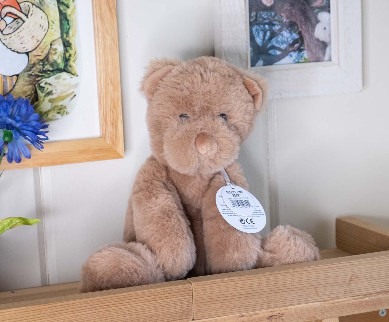 Floppy brown teddy bear