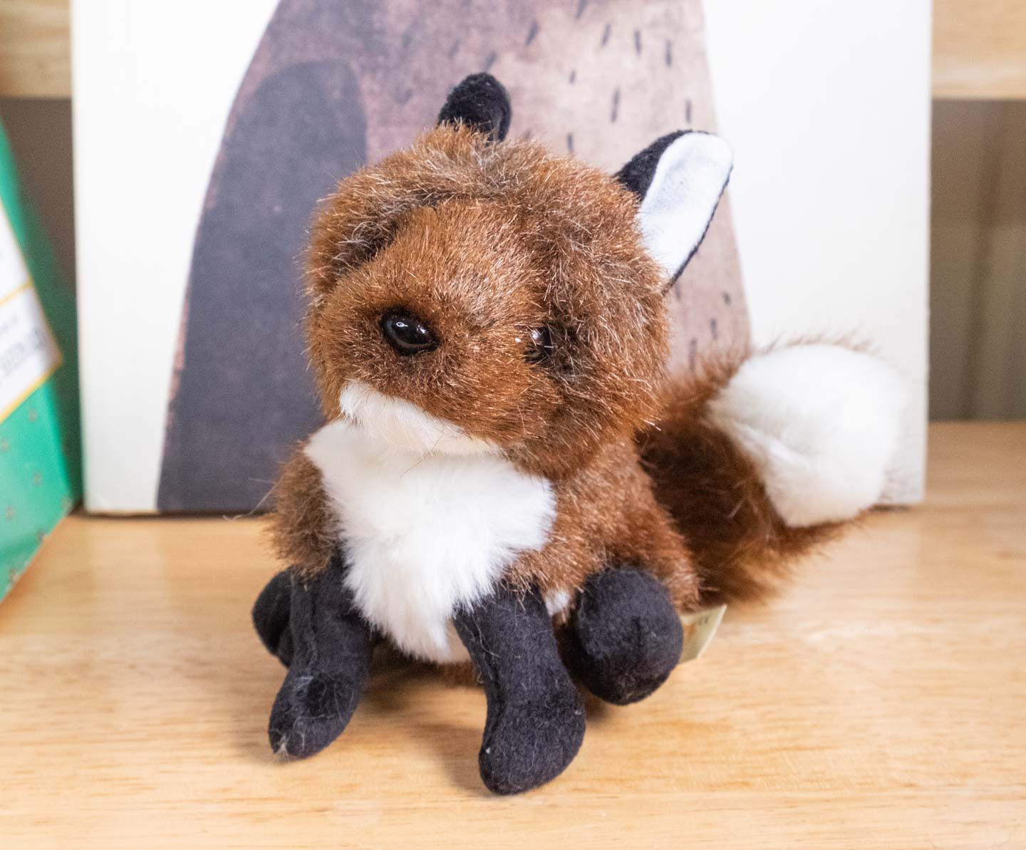 Finger puppet red fox with white patches