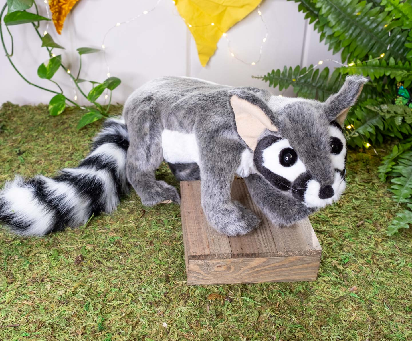 Standing ringtail cat puppet