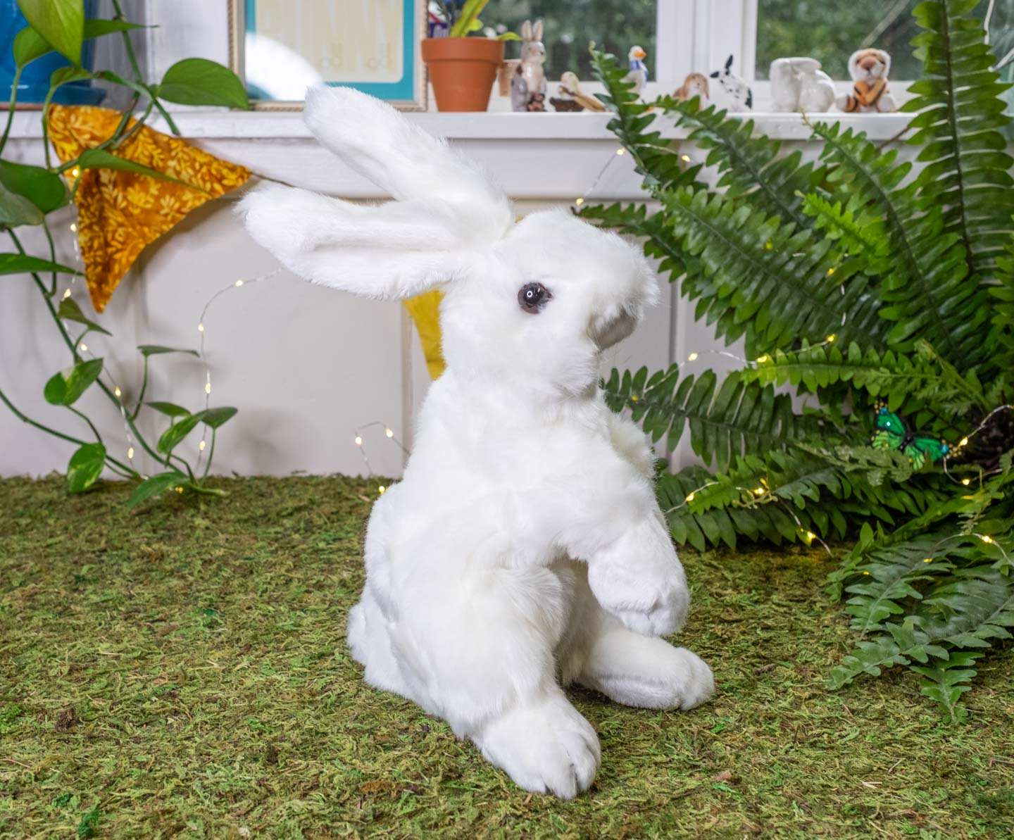 White standing puppet bunny