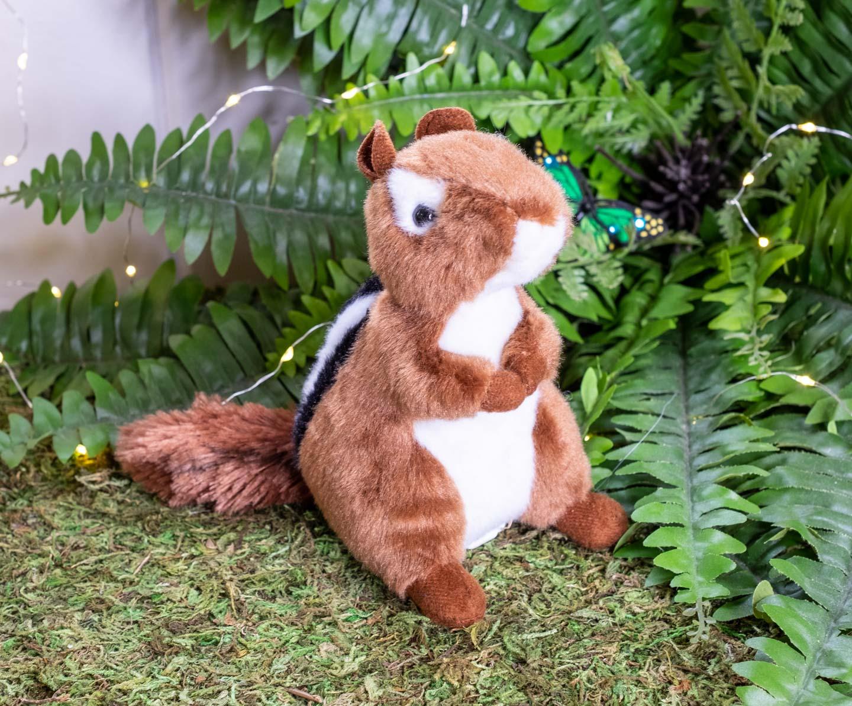 Standing plush red chipmunk