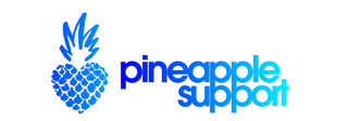 Logo of pineapple support in blue