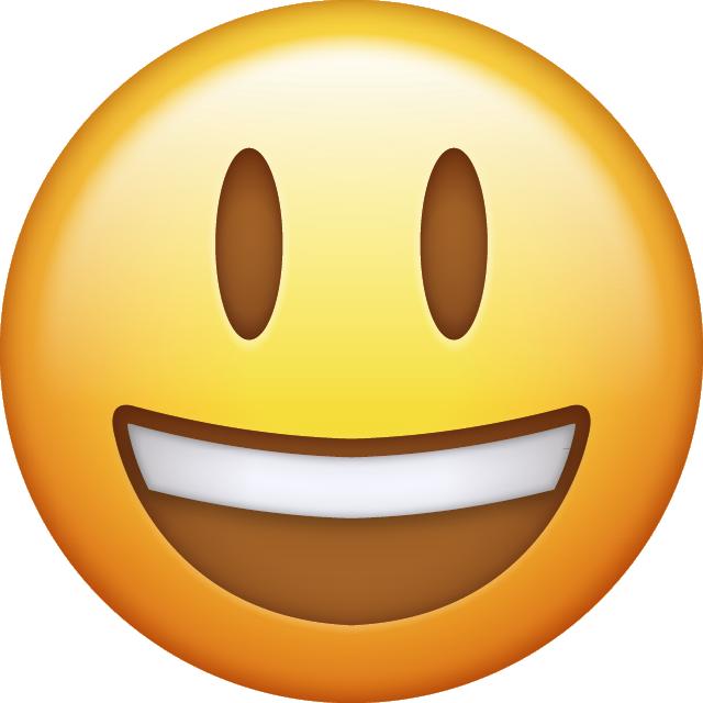 a grinning emoji