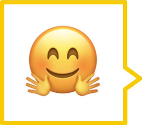 A hugging emoji