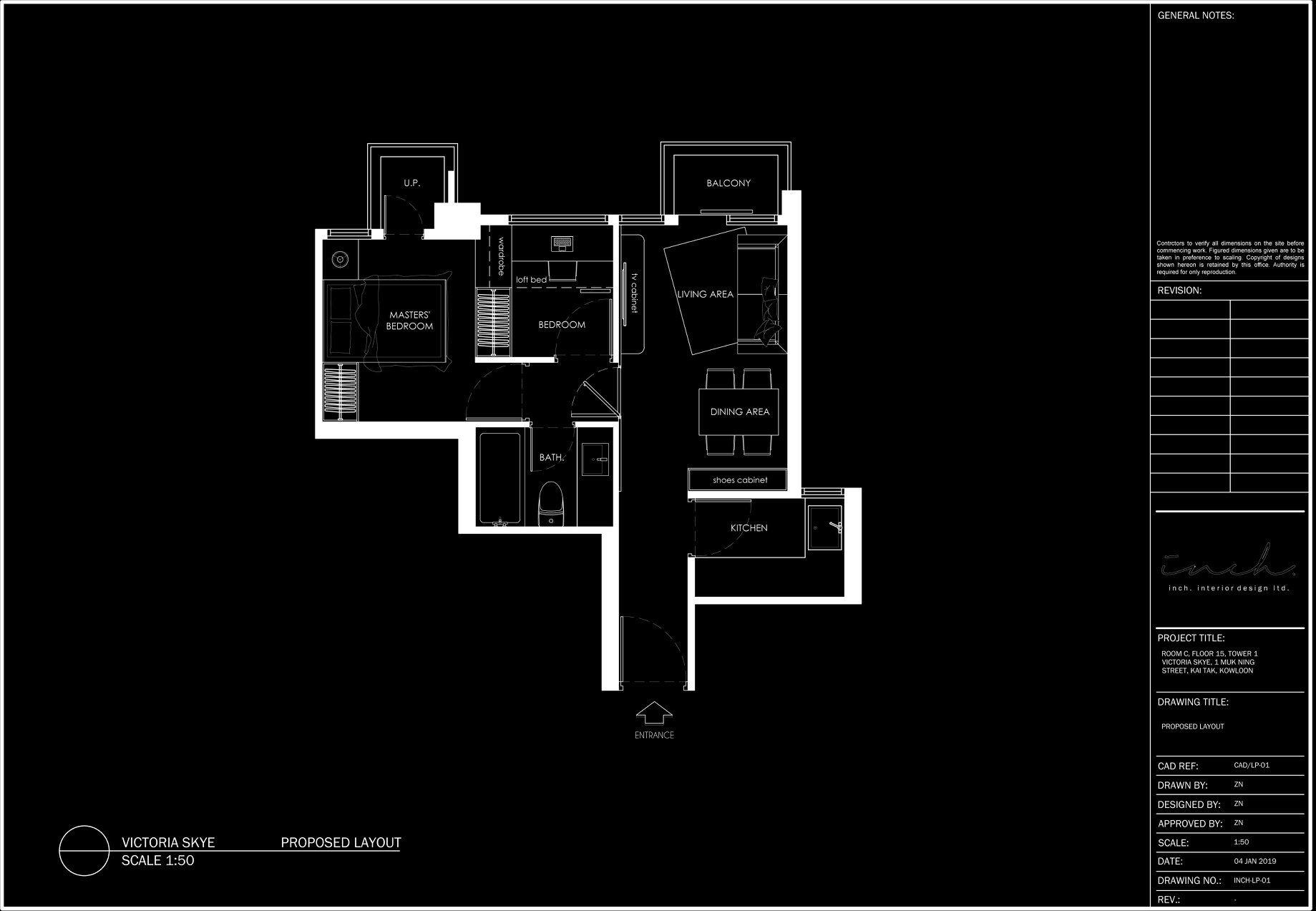 Inch Interior Design Victoria Skye Concept Floorplan