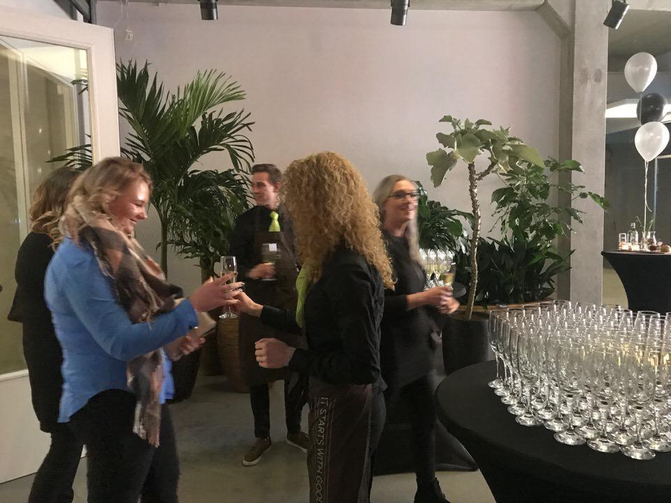 Bedrijfsfeest met feestelijk ontvangst