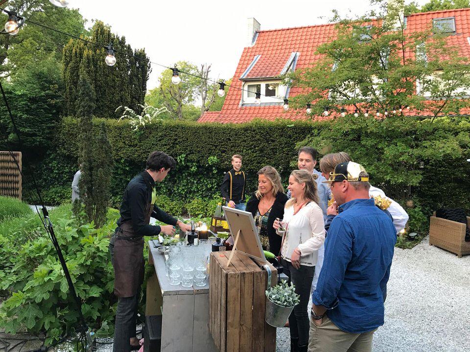 Tuinfeest met verzorgde catering en live cocktailbar