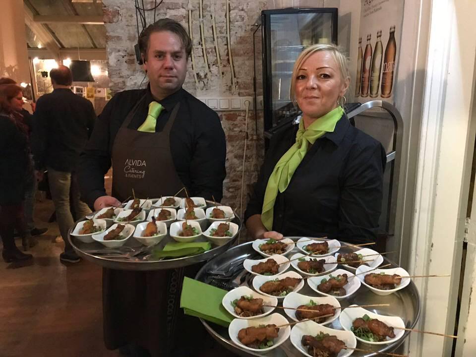 Culinair eten verzorgd door Alvida Catering & Events