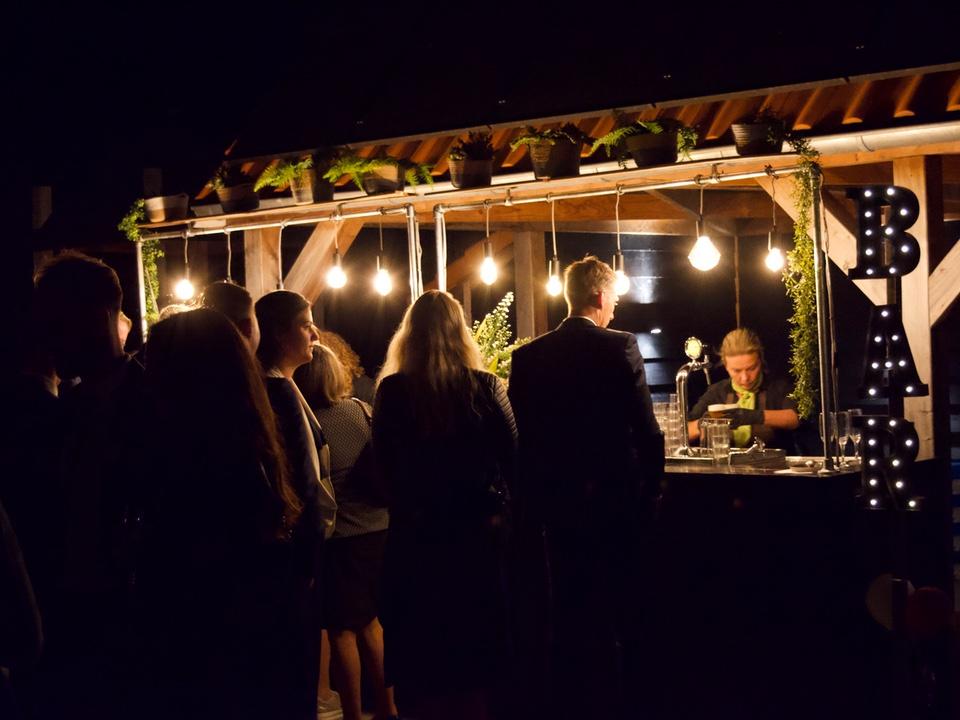 Open bar tijdens bruiloftsfeest