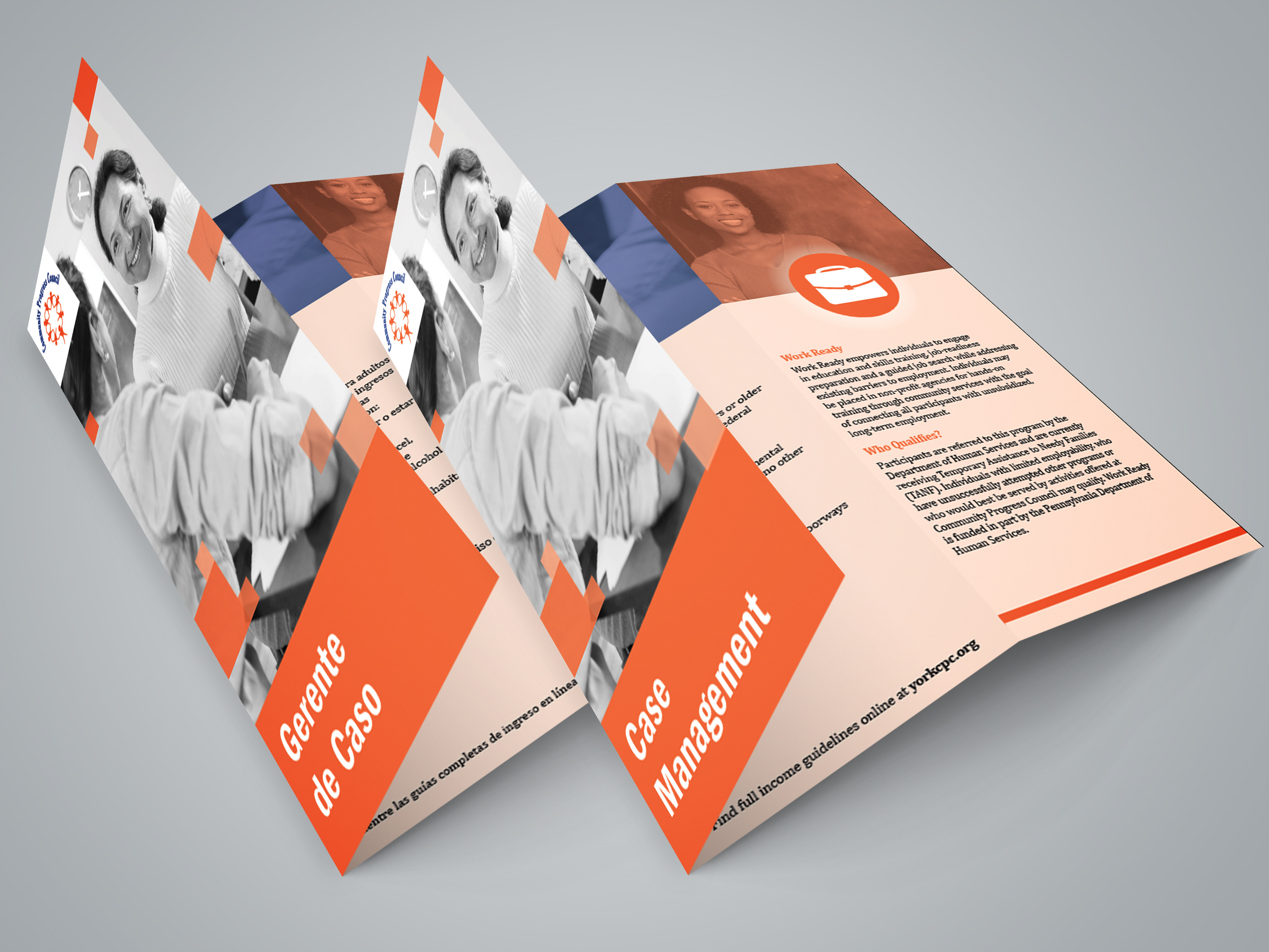 brochure mockup for cpc in english and spanish