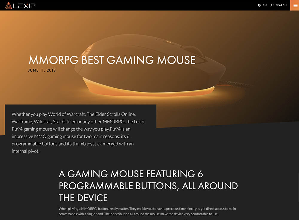preview of blog detail template on desktop