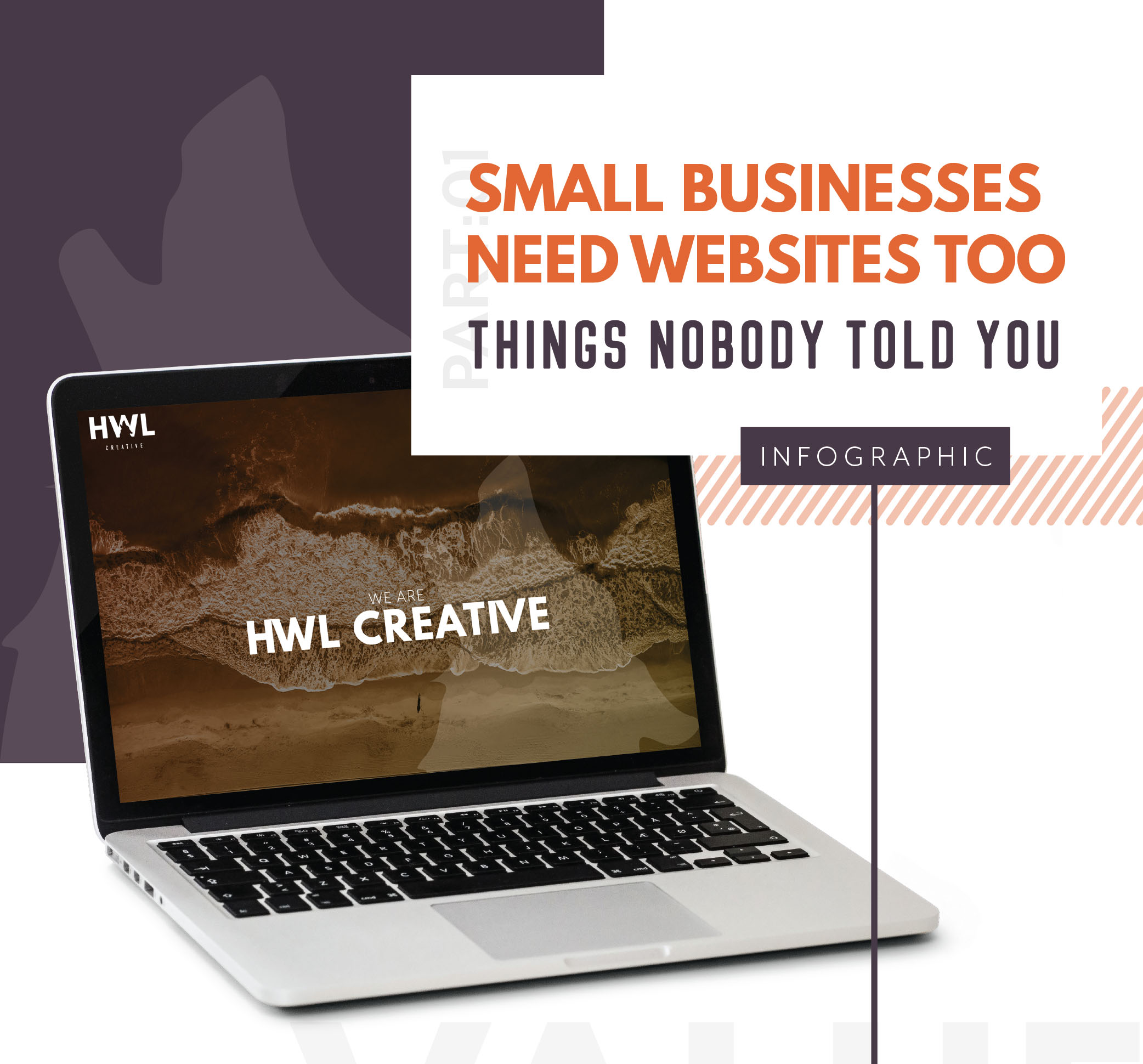 small business infographic mocked up on a laptop