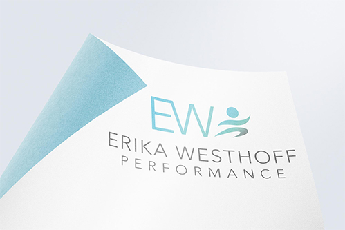 logo mockup of erica westhoff performance