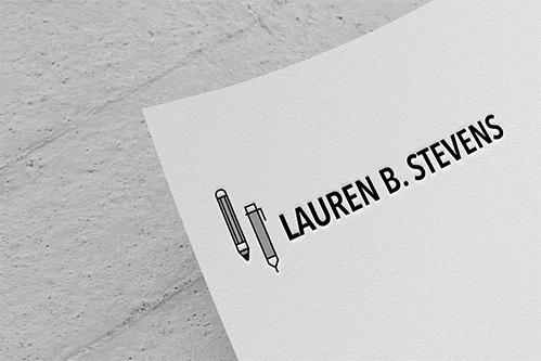 lauren b stevens logo design