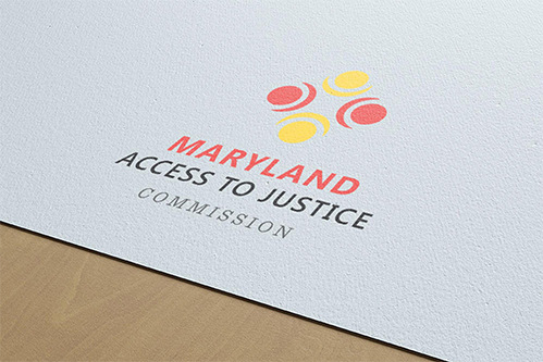 md access to justice logo mockup