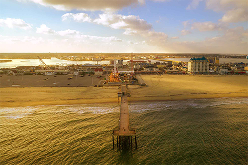 ocean city maryland drone photograph of pier