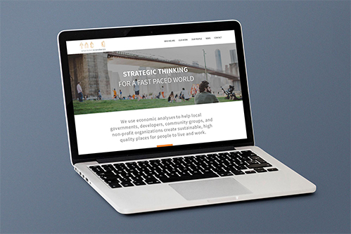 website mockup for strategic economics