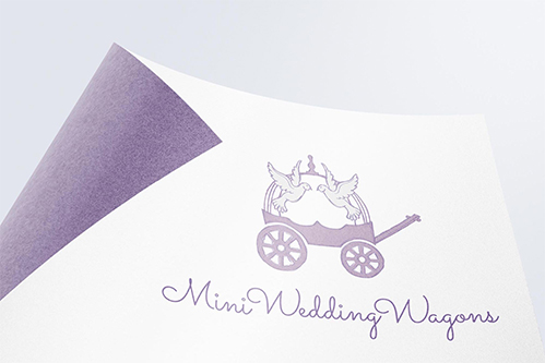 mini wedding wagons logo design