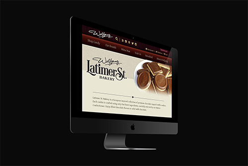 wolfgang candy website design