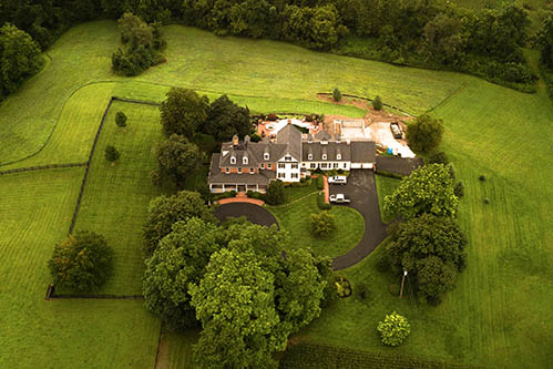 aerial photograph of luxury real estate home