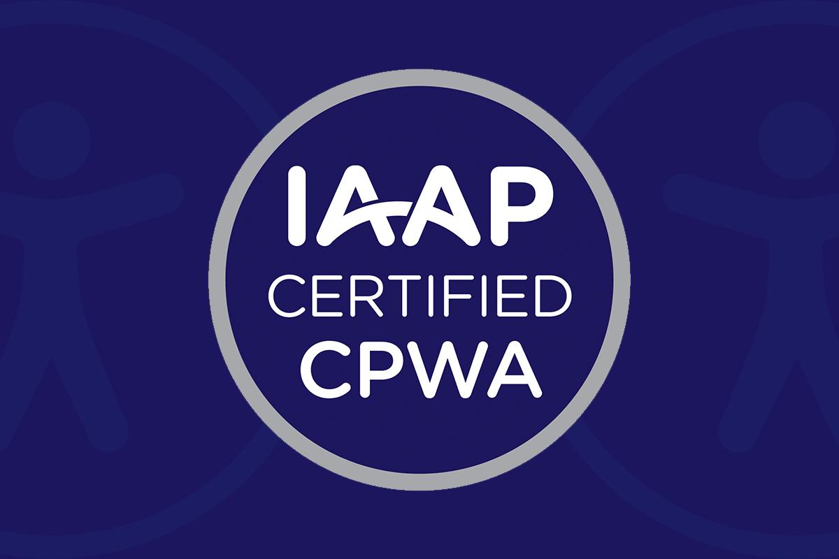 IAAP Certified CPWA