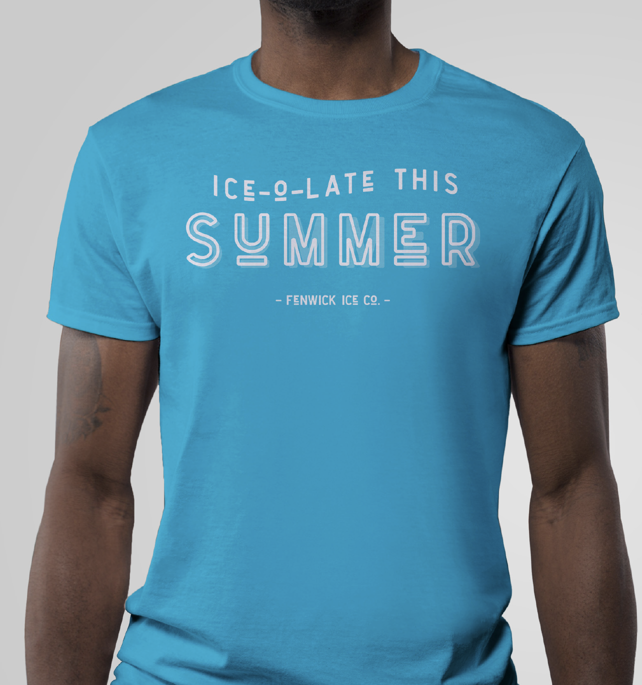 ice-o-late this summer mocked up on the front of a tshirt