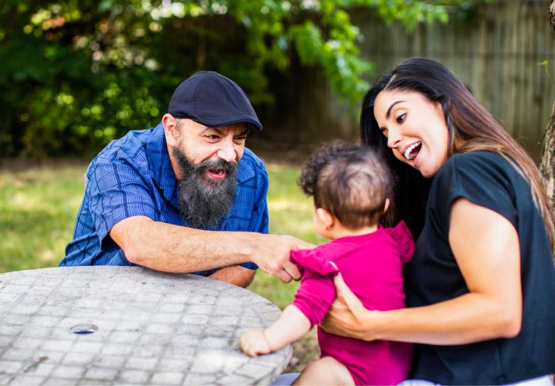 Happy Medicaid family member