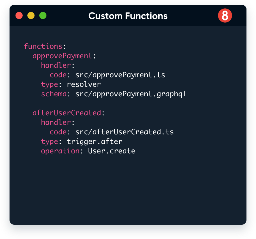 custom functions on 8base
