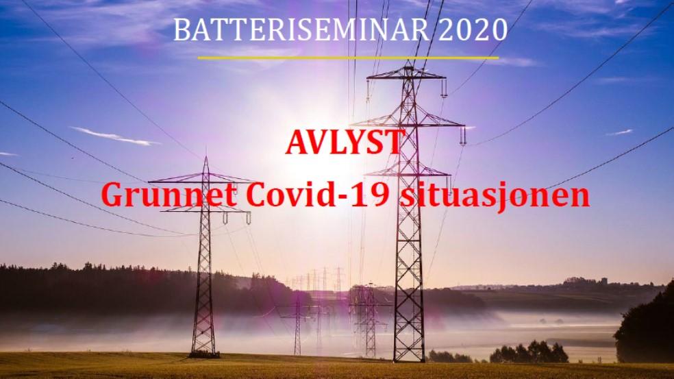 Batteriseminar 2020 (Avlyst grunnet Covid-19 situasjonen)