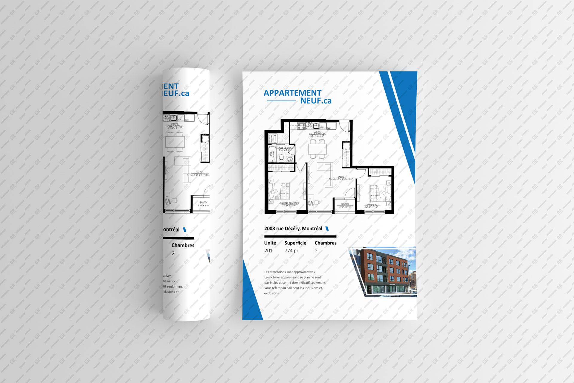 Upwork: Estate flyers