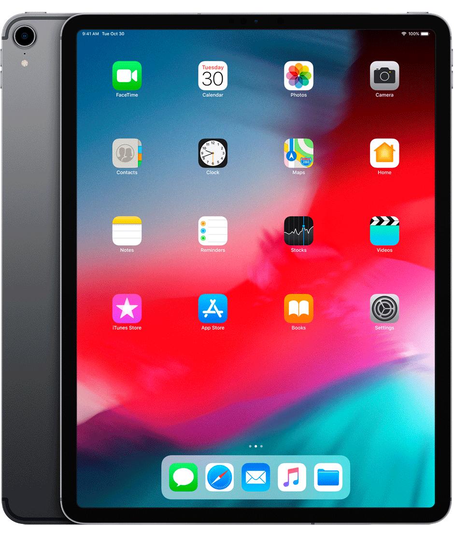 Produktový náhled obou stran nového iPadu Pro 2018