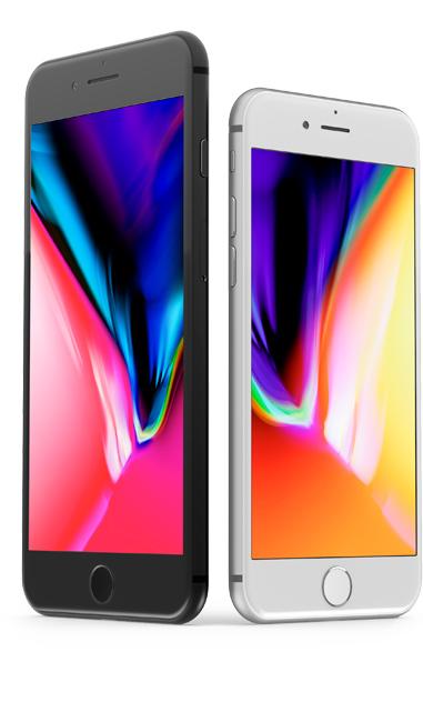 Detailnější záběr na iPhone 7 / 7 Plus v černé a bílé barvě