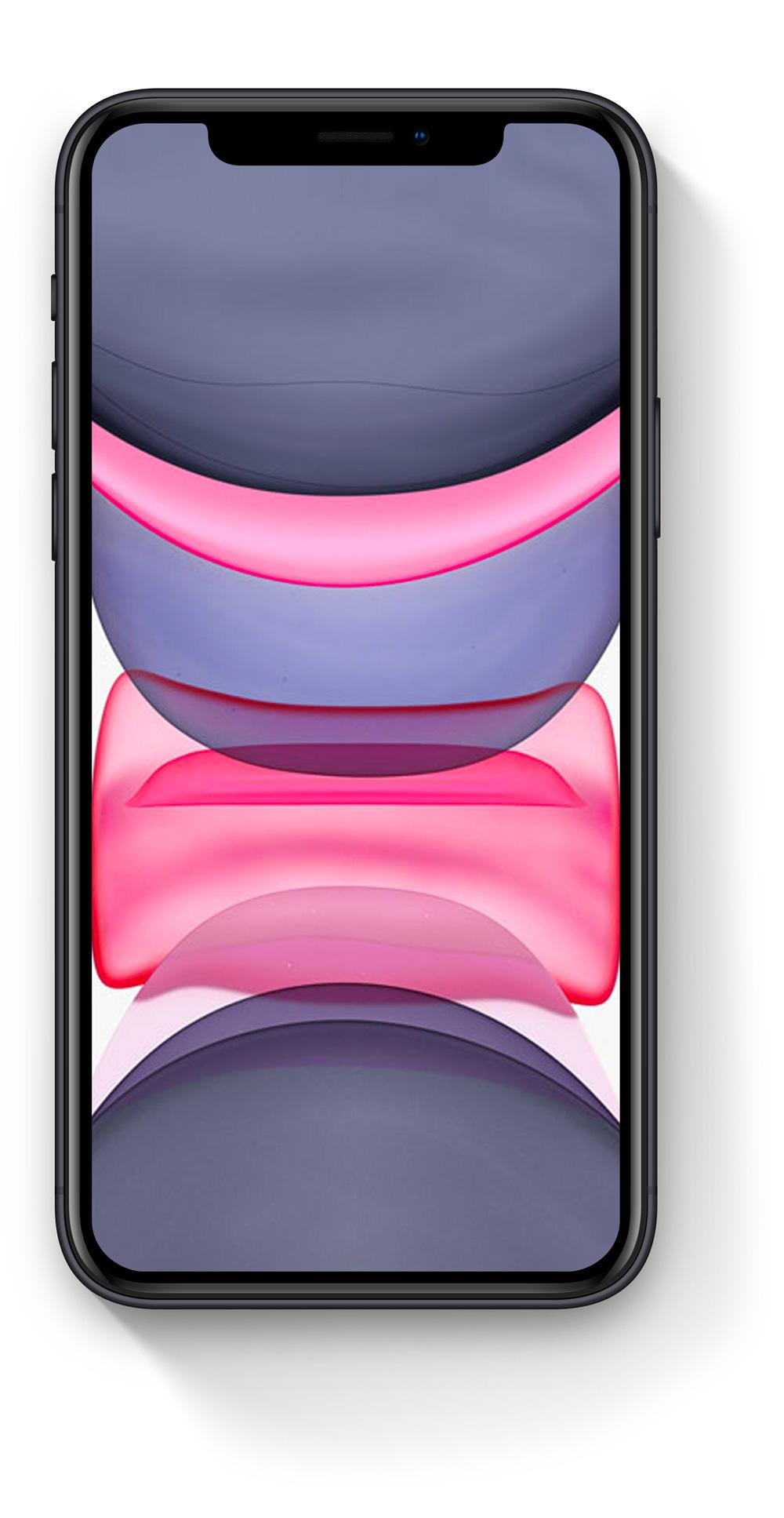 Detailní perspektivní záběr na iPhone 11