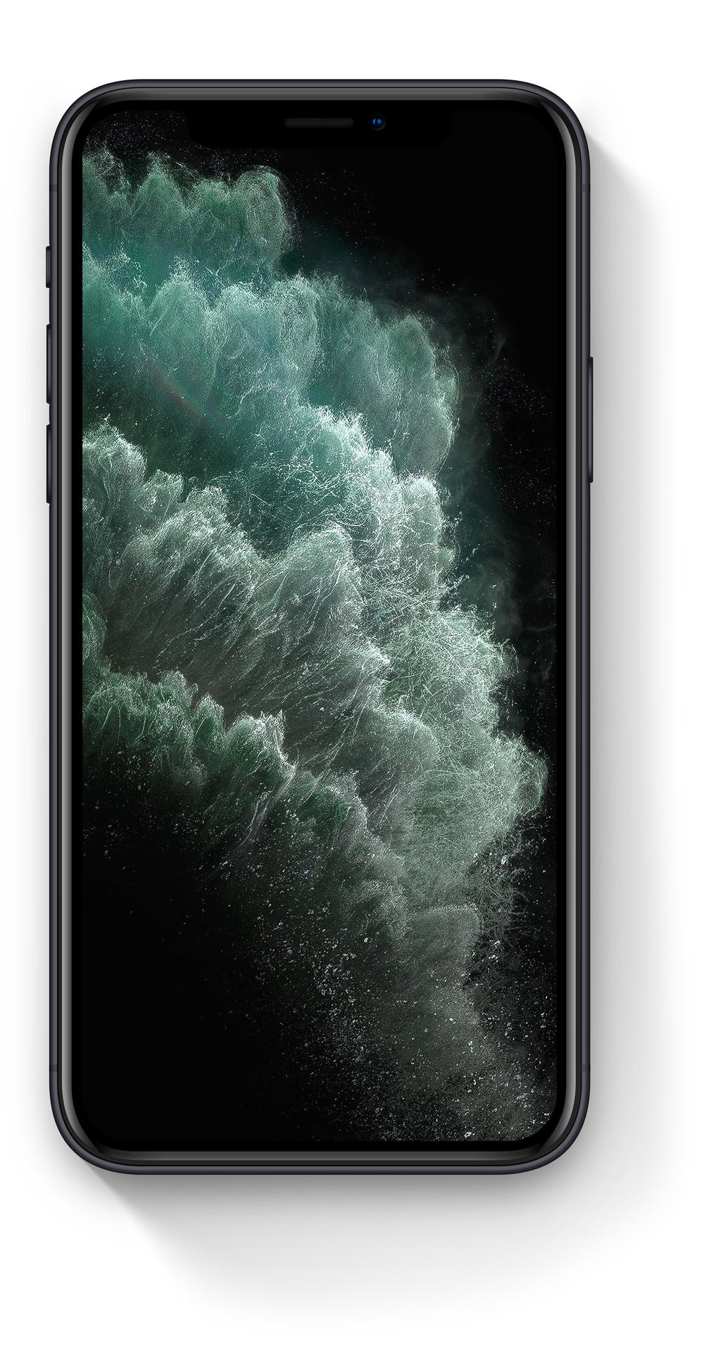 Detailní perspektivní záběr na iPhone 11 Pro