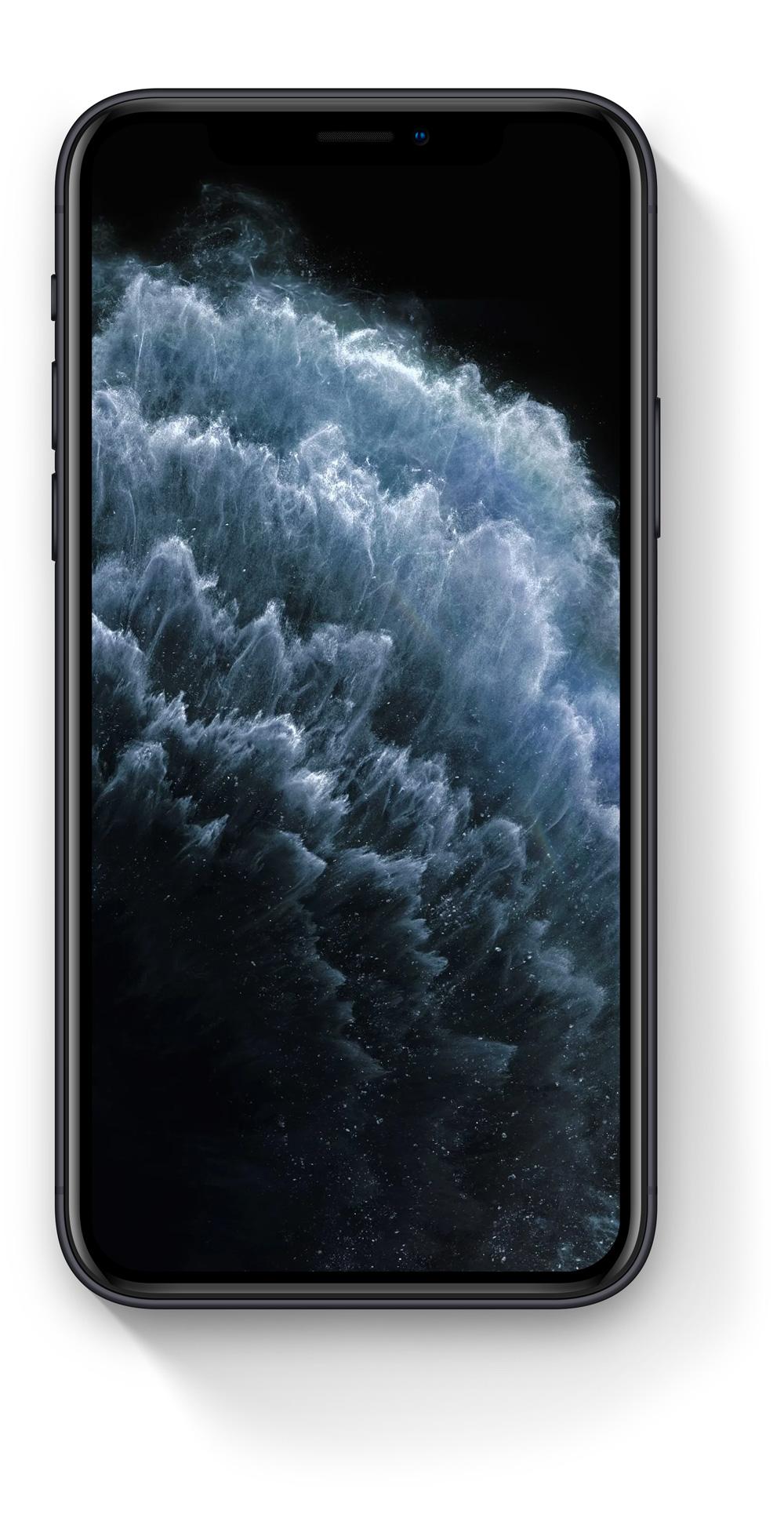 Detailní perspektivní záběr na iPhone 11 Pro Max