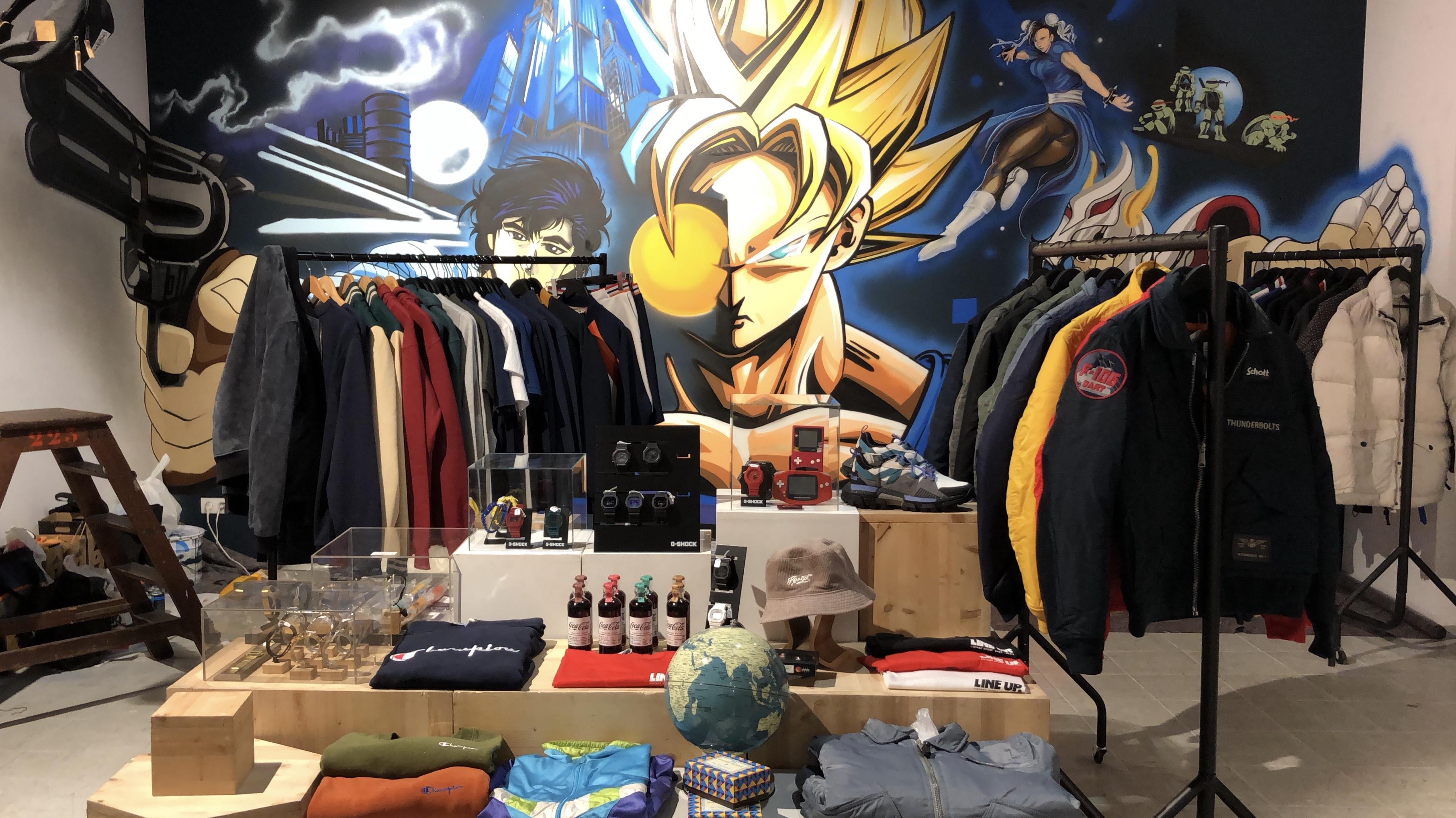 Pop up store 90's Heroes La Garçonnière