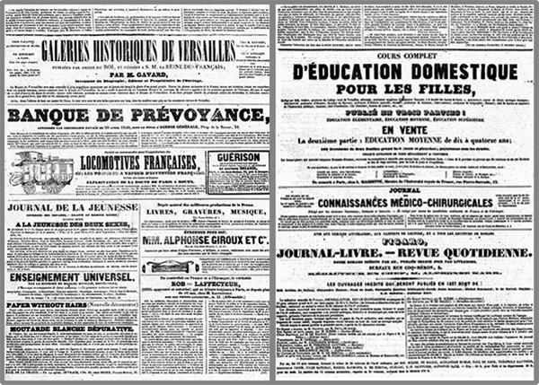 exemples presse 1836 emile de girardin La Presse