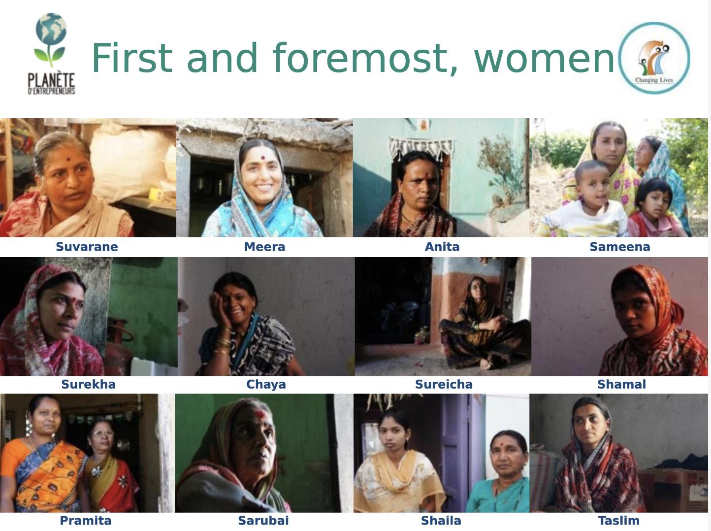 Femmes indiennes rencontrées lors de la mission Planètes entrepreneurs