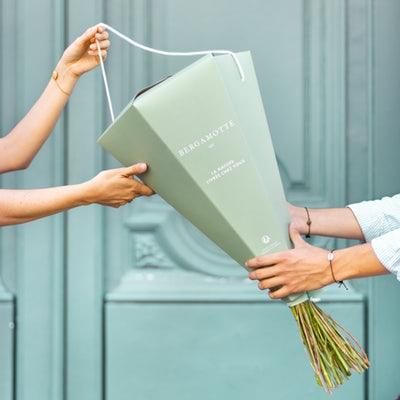 Packaging Bergamotte, livraison de fleurs