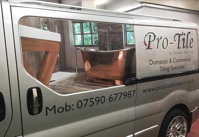 vinyl graphics and signs for car
