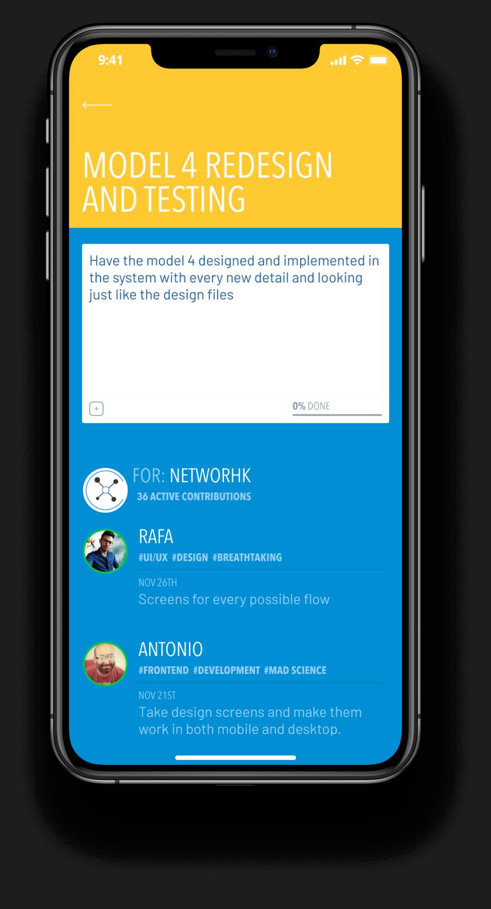 netwoRHk app on an iPhoneX
