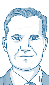 Cartoon of Mark Klein
