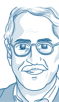 Cartoon of Gary Hamel
