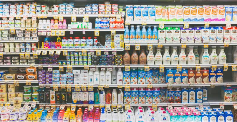 How to Save Money Fast: Dairy section of a grocery store