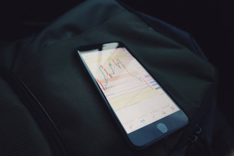 How to Start Investing: iPhone with charts on it