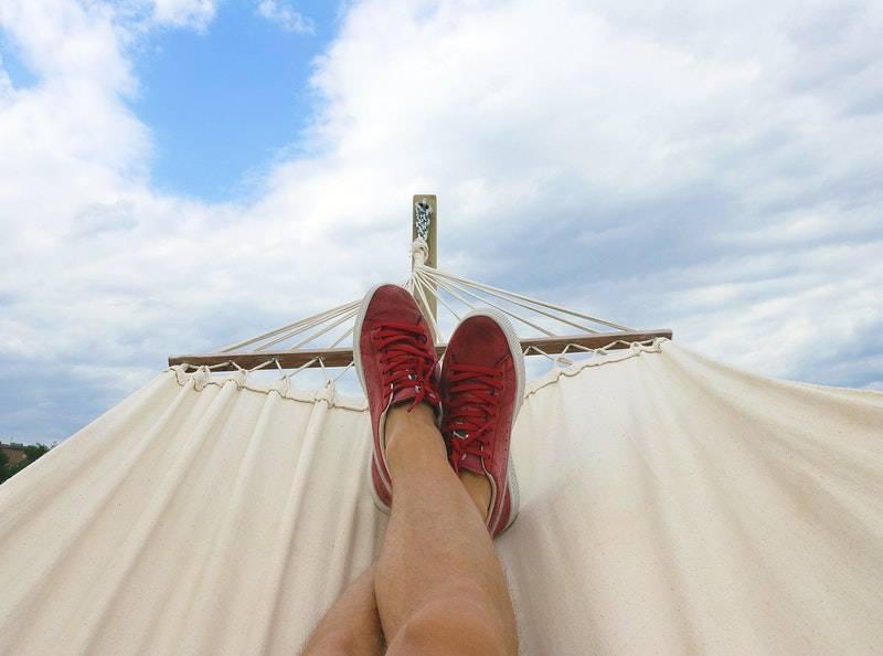 What Is an Annuity: Legs on hammock