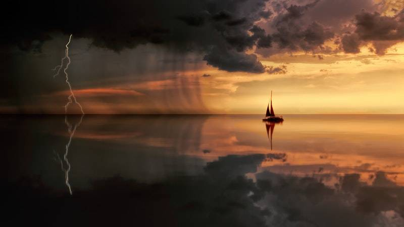 How do bonds work: Sailboat in stormy waters