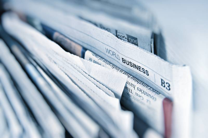 What is a stock: Business section of newspaper