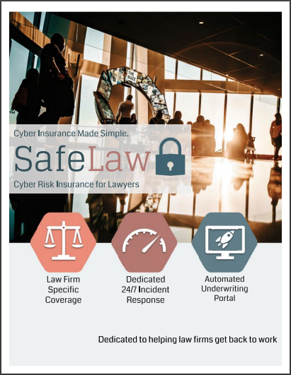SafeLaw Cyber Risk Insurance for Lawyers, 2019 Coverage Overview Cover Image