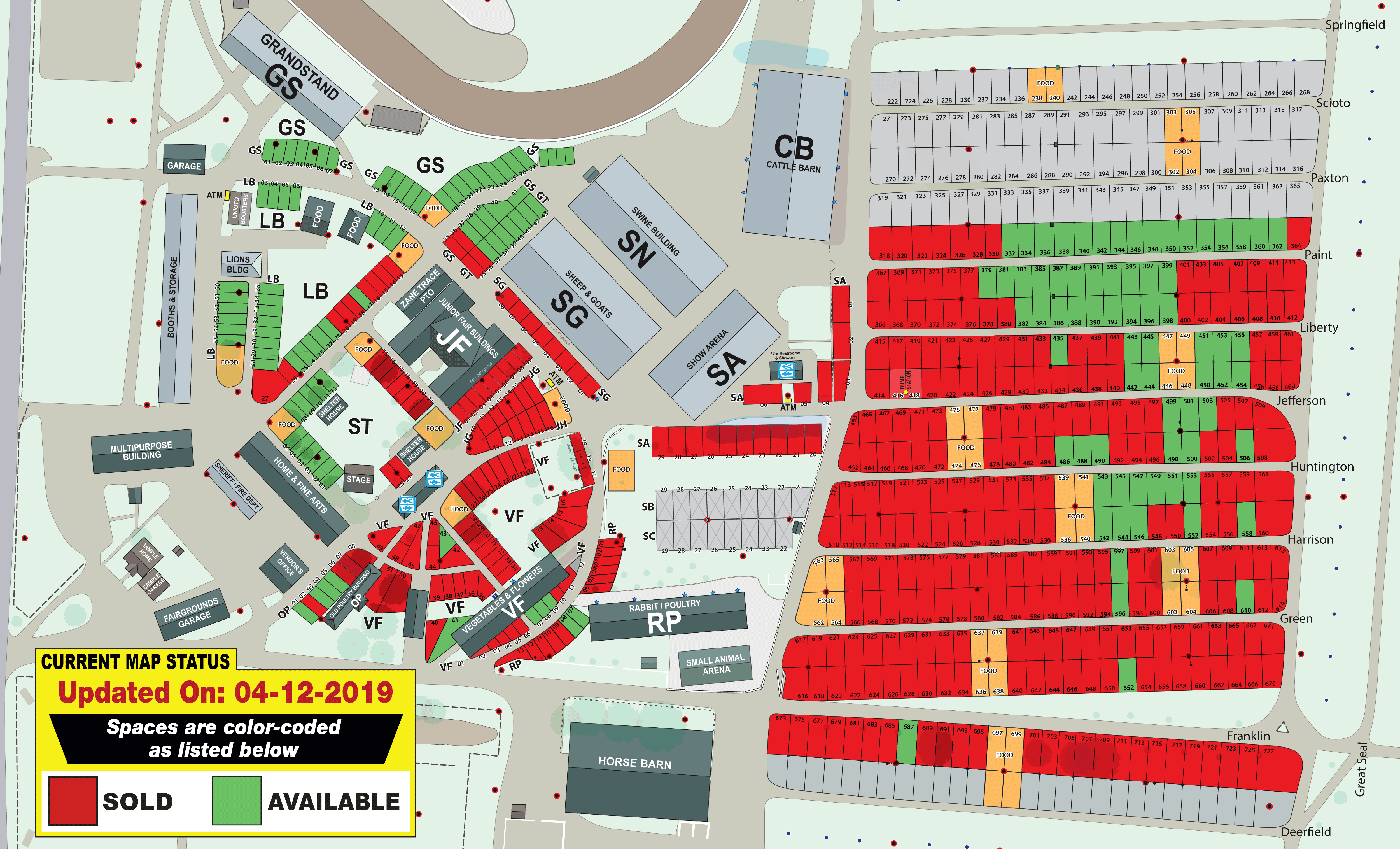 Outdoor Fairgrounds Map Availability